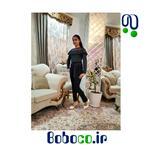 رامپر دخترانه ایرانی مجلسی جنس اعلا پارچه طرح دار تولیدی بی بی مد کد ۲۰۹۶