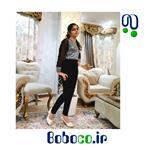 رامپر دخترانه مجلسی ایرانی پارچه طرح دار تولیدی بی بی مد کد ۲۱۰۰