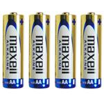 Maxell Alkaline AA Battery Pack Of 4