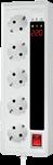 چند راهی و محافظ نوسان برق Green Line مدل GLP105D - گرین لاین