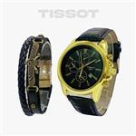 ساعت مچی مردانه Tissot  و دستبند چرمی  فروهر مدل 118