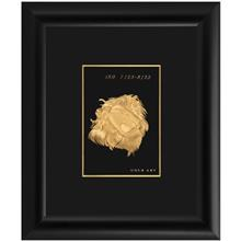تابلوي طلاکوب زرسام طرح ماه مرداد سايز 30 × 25 سانتي متر