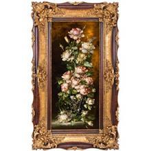 تابلو فرش گالری سی پرشیا طرح گل صد تومانی کد 901139