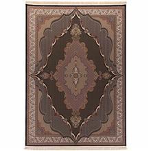 فرش ماشینی دنیای فرش طرح سورماهی زمینه سورمه ای