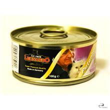 غذای کنسروی گربه لئوناردو حاوی گوشت  قلب  بوقلمون و سبزیجات