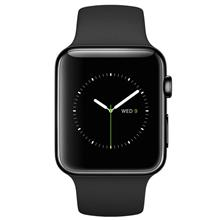 Apple Watch 38mm - Space Black Stainless Steel Case with Black Sport Band - MLCK2