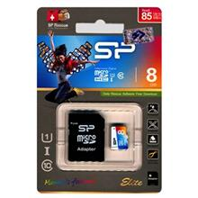 Silicon Power Color Elite UHS-I U1 Class 10 85MBps microSDHC With Adapter - 8GB