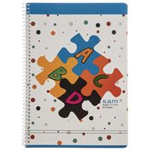 Sam Alphabet Puzzle Design English Notebook