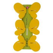 گيره لباس عروسکي زيباسازان مدل پروانه بسته 6 عددي