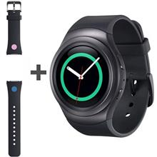 Samsung Gear S2 R720 Black SmartWatch with Samsung Rubber Band