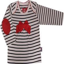 تي شرت آستين بلند نوزادي  نيلي مدل Red Bow