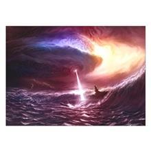 تابلوی ونسونی طرح Alein Storm سایز 50x70