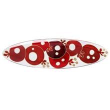 شیرینی خوری شیشه ای گالری انار مدل 134111 طرح انار