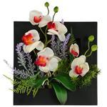 تابلو گل مصنوعی هومز طرح ارکیده مدل 32576