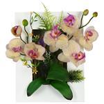تابلو گل مصنوعی هومز طرح ارکیده مدل 32578