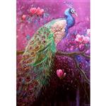 تابلو شاسی گالری هنری پیکاسو طرح طاووس سایز 20x30 سانتی متر