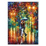 تابلو شاسی ونسونی طرح Leonid Afremov Dance in The Rain  سایز 30x40 سانتی متر