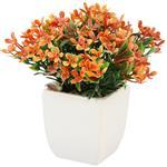 گلدان سرامیک به همراه گل مصنوعی هومز طرح مینا مدل 31507