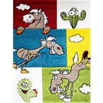 فرش ماشینی مرینوس طرح اسب بازیگوش کد 32638