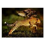 تابلو شاسی ونسونی طرح Running Strong Tiger  سایز 30x40 سانتی متر