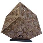 آباژور برتاریو مدل مکعبی چوب تیره مجموعه دو عددی