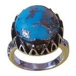 انگشتر نقره فیروزه بلو استون مدل 396110105