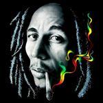 تیشرت باب مارلی طرح Rasta Smoke