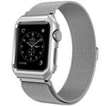 Mobest 38mm Milanese Stainless Steel Wrist Band with Metal Protective Case - Silver