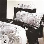 سرویس خواب مریم مدل White Rose یک نفره 4 تکه
