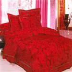 سرویس خواب مریم مدل Red Rose یک نفره 4 تکه