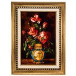 تابلو فرش گالری سی پرشیا طرح گل ورسای کد 901313