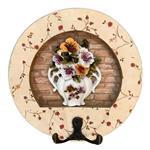 White House Model Flowerpot Key Holder Three Dimensional Design