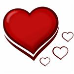 استیکر شیشه ای طرح قلب بسته 5 عددی