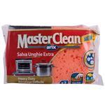 ابر و اسکاچ  ضد باکتری آریکس مدل Master Clean کد 12480 مجموعه 2 عددی