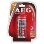 باتری نیم قلمی AEG مدل ALKALINE بسته 2 عددی