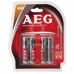 باتری نیم قلمی AEG مدل ALKALINE بسته 4 عددی