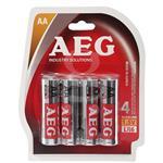 باتری  قلمی AEG مدل ALKALINE بسته 4 عددی