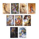 تابلو شاسی گالری هنری پیکاسو طرح آثار استاد محمود  فرشچیان مجموعه 9 عددی