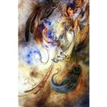 تابلو شاسی گالری هنری پیکاسو طرح مینیاتور اثر استاد فرشچیان کد 0122