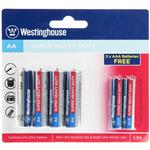 Westinghouse Super Heavy Duty AA and AAA Battery Pack of 6