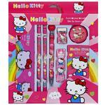 ست 8 تکه لوازم التحریر مدل Hello Kitty