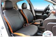 روکش صندلی چرم ایران خودرو پژو 206 کد 17برند آیسان