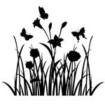 استیکر سالسو طرح  گل و پروانه