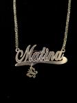 مدال آویز طلا زنانه طرح اسم ماتینا