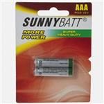 Sunny Batt Super Heavy Duty AAA Battery Pack of 2