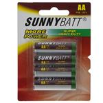 Sunny Batt Super Heavy Duty AA Battery Pack of 4