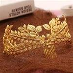 تاج شانه ای Gold Leaf Tiara Crown