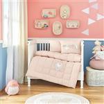 سرویس خواب  پنبه دوز ی شده کودک کاراجا هوم طرح Pink Garden چهار تکه