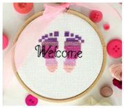 شماره دوزی طرح (WELCOME) نوزاد