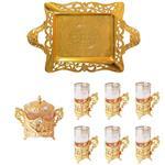 سرویس چایخوری سلوین طرح ارکیده طلایی کدG18900/1/TB/6